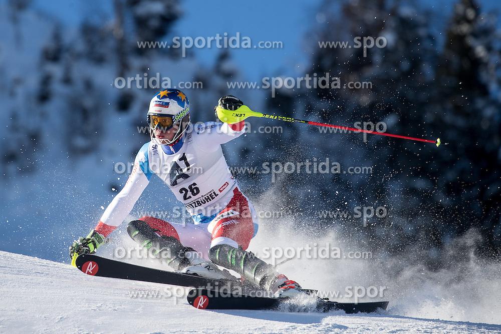 22.01.2017, Hahnenkamm, Kitzbühel, AUT, FIS Weltcup Ski Alpin, Kitzbuehel, Slalom, Herren, 1. Lauf, im Bild Ramon Zenhaeusern (SUI) // Ramon Zenhaeusern of Switzerland in action during his 1st run of men's Slalom of FIS ski alpine world cup at the Hahnenkamm in Kitzbühel, Austria on 2017/01/22. EXPA Pictures © 2017, PhotoCredit: EXPA/ Johann Groder