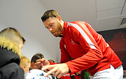 Nathan Baker of Bristol City signs autographs -Mandatory by-line: Nizaam Jones/JMP - 18/01/2020 - FOOTBALL - Ashton Gate - Bristol, England - Bristol City v Barnsley - Sky Bet Championship