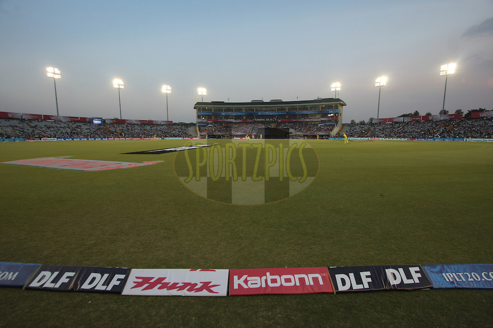 A view of ground during match 9 of the Indian Premier League ( IPL ) Season 4 between the Kings XI Punjab and the Chennai Super Kings held at the PCA stadium in Mohali, Chandigarh, India on the 13th April 2011..Photo by Anil Dayal/BCCI/SPORTZPICS