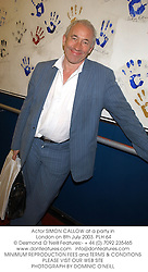 Actor SIMON CALLOW at a party in London on 8th July 2003.PLH 64