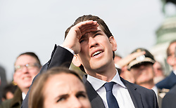 26.10.2017, Heldenplatz, Wien, AUT, Nationalfeiertag und Angelobung neuer Rekruten. im Bild Außenminister Sebastian Kurz (ÖVP) // Austrian Foreign Minister Sebastian Kurz during Austrian National Day at Heldenplatz in Vienna, Austria on 2017/10/26. EXPA Pictures © 2017, PhotoCredit: EXPA/ Michael Gruber