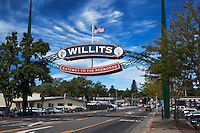 Willits Gateway to the Redwoods Sign, Mendocino County, California