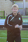 Forest Green Rovers manager Ady Pennock during the Pre-Season Friendly match between Forest Green Rovers and Cardiff City at the New Lawn, Forest Green, United Kingdom on 15 July 2015. Photo by Shane Healey.