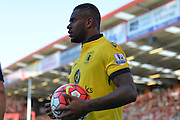 Aston Villa's Leandro Bacuna during the Barclays Premier League match between Bournemouth and Aston Villa at the Goldsands Stadium, Bournemouth, England on 8 August 2015. Photo by Mark Davies.