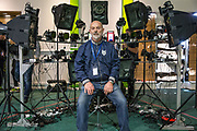 Actor Keith Allen has his face scanned for FIFA18 during the Forest Green Rovers Photocall at the New Lawn, Forest Green, United Kingdom on 31 July 2017. Photo by Shane Healey.