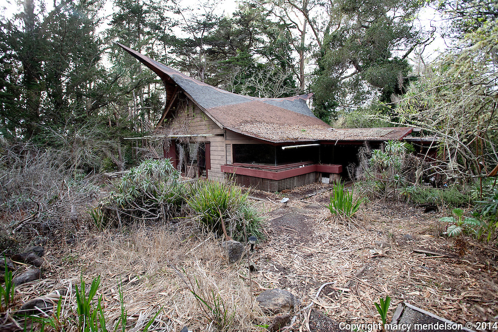 The house of Roger Somers, one of the original architects of the Druid Heights community.  His building style was part 'Polynesian, Zen and acid' according to longtime friend and colleague, Ed Stiles.
