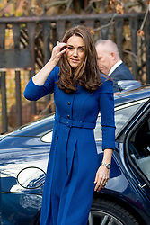 The Duchess of Cambridge arrives at Centrepoint in Barnsley.