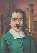 """Otto von Guericke [Otto de Querike] (1602 – 1686) was a German scientist, inventor, and politician. His pioneering scientific work, the development of experimental methods and repeatable demonstrations on the physics of the vacuum, atmospheric pressure, electrostatic repulsion, his advocacy for the reality of """"action at a distance"""" and of """"absolute space"""" were remarkable contributions for the advancement of the Scientific Revolution. From the book La ciencia y sus hombres : vidas de los sabios ilustres desde la antigüedad hasta el siglo XIX T. 3  [Science and its men: lives of the illustrious sages from antiquity to the 19th century Vol 3] By by Figuier, Louis, (1819-1894); Casabó y Pagés, Pelegrín, n. 1831 Published in Barcelona by D. Jaime Seix, editor , 1879 (Imprenta de Baseda y Giró)"""