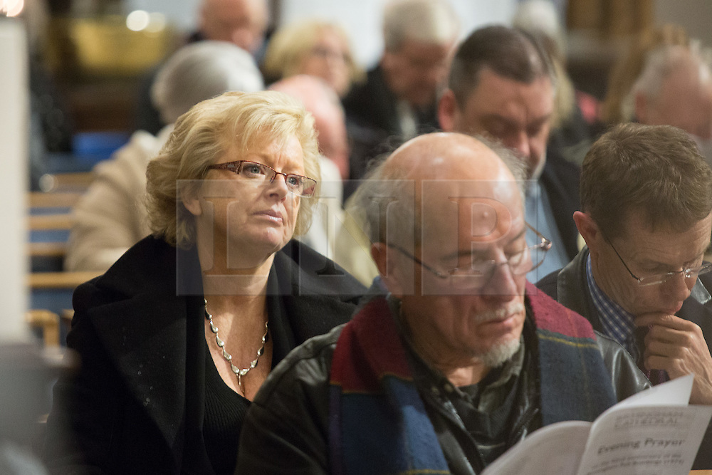 © Licensed to London News Pictures. 21/11/2016. Birmingham, UK. A service of prayer to mark the deaths of 21 people killed in the Birmingham Pub bombings on the 42nd anniversary. Pictured, Julie Hamilton pictured in the Cathedral. credit: Dave Warren/LNP