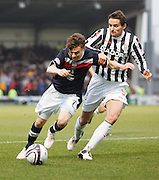 Dundee's Nicky Riley and St Mirren's Lee Mair - St Mirren v Dundee, Clydesdale Bank Scottish Premier League at St Mirren Park.. - © David Young - www.davidyoungphoto.co.uk - email: davidyoungphoto@gmail.com
