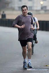 © London News Pictures. 22/10/2012. London, UK.  British Chancellor of the Exchequer George Osborne running in Westminster in the early morning of October 22, 2012 . Photo credit: Ben Cawthra/LNP