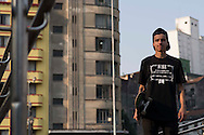 Sao Paulo, Brazil, August 17 of 2012:   Luan , pro skate ridder, at Praca da Se, downtown Sao Paulo. (Photo: Caio Guatelli)
