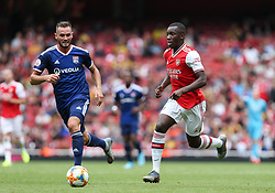 Edward Nketiah of Arsenal runs at the Lyon defence - Mandatory by-line: Arron Gent/JMP - 28/07/2019 - FOOTBALL - Emirates Stadium - London, England - Arsenal v Olympique Lyonnais - Emirates Cup