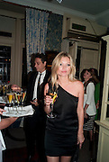 KATE MOSS, Dinner hosted by Elizabeth Saltzman for Mario Testino and Kate Moss. Mark's Club. London. 5 June 2010. -DO NOT ARCHIVE-© Copyright Photograph by Dafydd Jones. 248 Clapham Rd. London SW9 0PZ. Tel 0207 820 0771. www.dafjones.com.