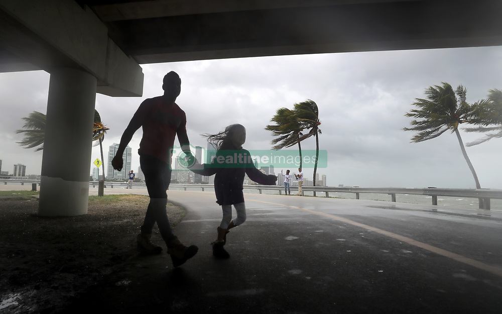 September 10, 2017 - Miami, Florida, U.S. - The winds and sea are whipped up off of the Rickenbacker Causeway in Miami as Hurricane Irma approaches. (Credit Image: © Mike Stocker/Sun-Sentinel via ZUMA Wire)