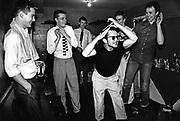 Ska, 2 Tone band, Madness, messing around backstage, UK 1980