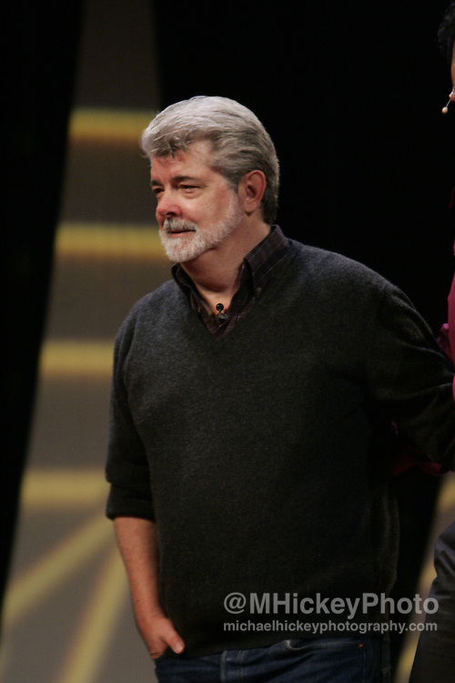 George Lucas speaks at Star Wars Celebrations III in Indianapolis, Indiana. Photo by Michael Hickey