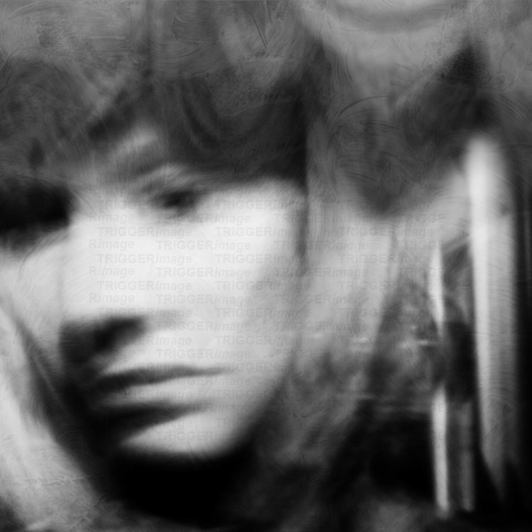 portrait of a woman lost in sorrow