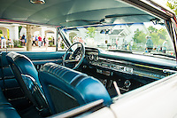 Interior view of a Mercury Marauder S55 at Gilford Community Center's Cruise Night on Thursday evening.  (Karen Bobotas/for the Laconia Daily Sun)
