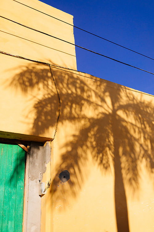Shadow of a palm tree in Trinidad, Cuba