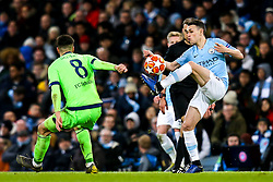 Phil Foden of Manchester City takes on Suat Serdar of Schalke - Mandatory by-line: Robbie Stephenson/JMP - 12/03/2019 - FOOTBALL - Etihad Stadium - Manchester, England - Manchester City v Schalke - UEFA Champions League, Round of 16, 2nd leg