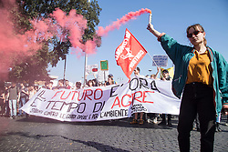March 23, 2019 - Rome, Italy - March for the climate and against great works in Rome, to focus on the real needs of Italy and the health of the Earth. Initiative promoted by dozens of committees from all over Italy. (Credit Image: © Matteo Nardone/Pacific Press via ZUMA Wire)