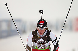 Romana Schrempf of Austria during the Women 15 km Individual of the e.on IBU Biathlon World Cup on Thursday, December 16, 2010 in Pokljuka, Slovenia. The fourth e.on IBU World Cup stage is taking place in Rudno Polje - Pokljuka, Slovenia until Sunday December 19, 2010.  (Photo By Vid Ponikvar / Sportida.com)