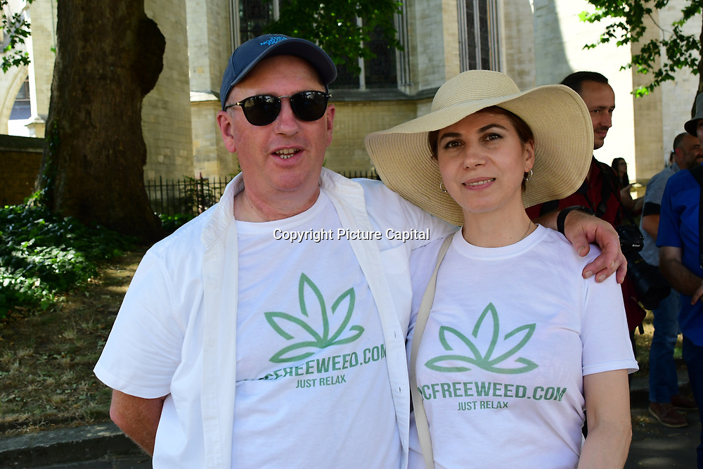Protest for legalization of cannabis outside Parliament during the dabate in Parliament People affected with disease and illness needed cannabis to give them live and to lives on an human rights demand for the legalization of cannabis on 6th July 2018.