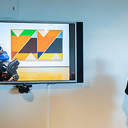 APRIL 25, 2018--MIAMI, FLORIDA<br /> Theresa Bembnister, Akron Art Museum, Associate Curator takes part in her group's presentation as part of Arts and Technology exploration of new ways to connect people to art, at the Perez Art Museum Miami.<br /> (PHOTO BY ANGELVALENTIN/FREELANCE)