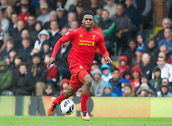 12.05.2013, Craven Cottage, London, ENG, Premier League, FC Fulham vs FC Liverpool, 37. Runde, im Bild Liverpool's Daniel Sturridge on his way to scoring his hat-trick goal against Fulham during during the English Premier League 37th round match between Fulham FC and Liverpool FC at the Craven Cottage, London, Great Britain on 2013/05/12. EXPA Pictures © 2013, PhotoCredit: EXPA/ Propagandaphoto/ David Rawcliffe..***** ATTENTION - OUT OF ENG, GBR, UK *****