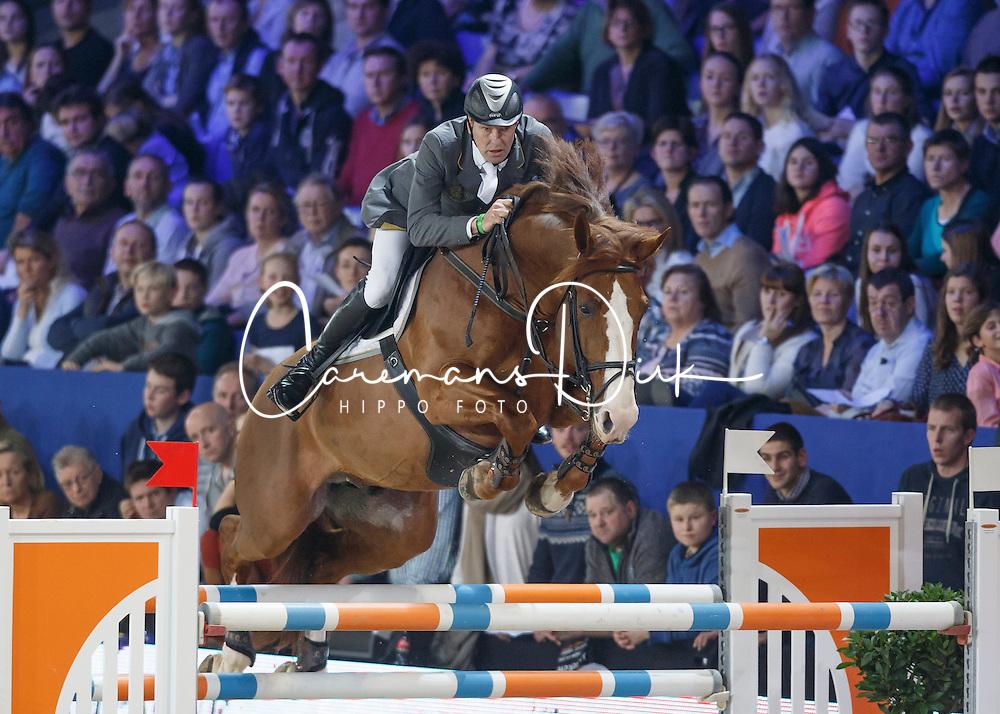 Smet Wim, (BEL), Goldstar Shinning Star S <br /> Leon Melchior Open Stallion competition<br /> Vlaanderen Kerstjumping - Memorial Eric Wauters - <br /> Mechelen 2015<br /> © Hippo Foto - Dirk Caremans<br /> 27/12/15