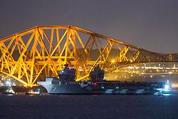 HMS Queen Elizabeth sails under the Forth Rail Bridge, River Forth, 26/06/2017<br /><br /><br /><br />(c)Craig Brown| Edinburgh Elite media