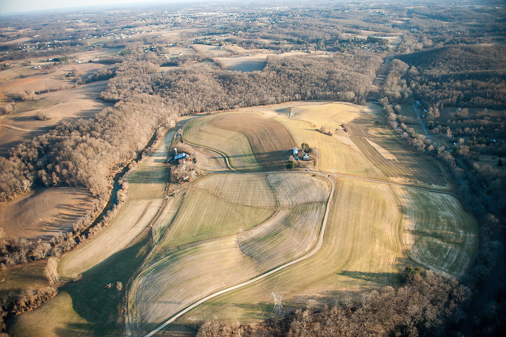 Aerial of Harford county farm in Maryland
