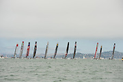 The start of the first fleet race of the  America's Cup World Series, San Francisco. 23/8/2012