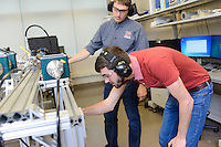 Students work in the BLAST lab on Centennial Campus. Photo by Marc Hall