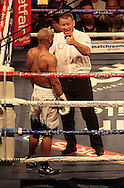 Picture by Richard Gould/Focus Images Ltd +44 7855 403186<br /> 13/07/2013<br /> The ref counts out  Carson Jones pictured during their International Welterweight contest at Craven Park, Hull.