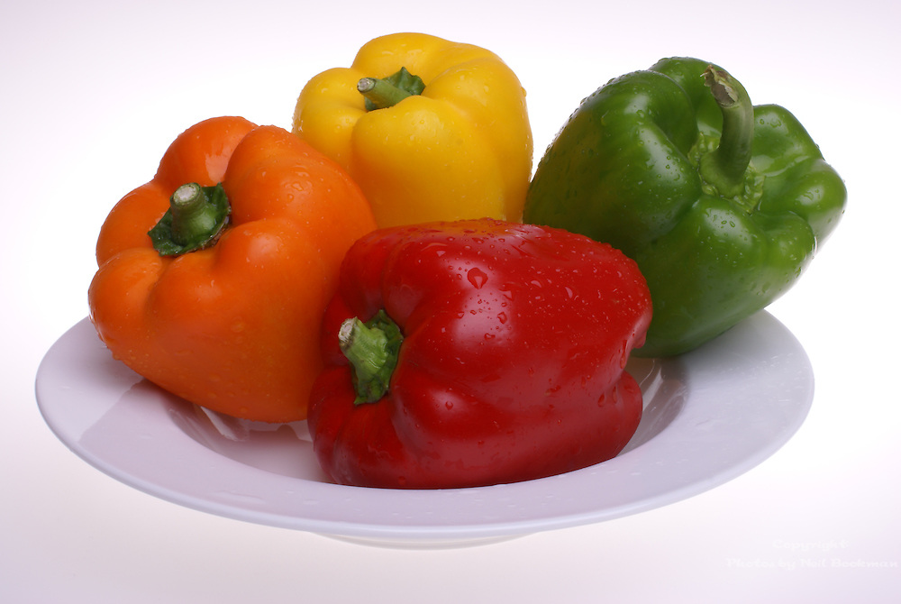 Fresh peppers from the garden.