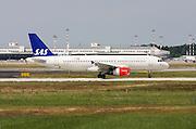 SAS - Scandinavian Airlines, Airbus A320 at Milan, Italy