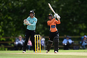 Danielle Wyatt of Southern Vipers batting during the Women's Cricket Super League match between Southern Vipers and Surrey Stars at Arundel Castle, Arundel, United Kingdom on 18 August 2019.