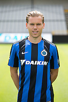 Club's Rudy Ruud Vormer poses for the photographer during the 2015-2016 season photo shoot of Belgian first league soccer team Club Brugge, Friday 17 July 2015 in Brugge
