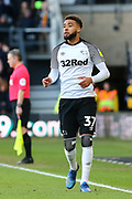 Derby County defender Jayden Bogle during the EFL Sky Bet Championship match between Derby County and Blackburn Rovers at the Pride Park, Derby, England on 8 March 2020.