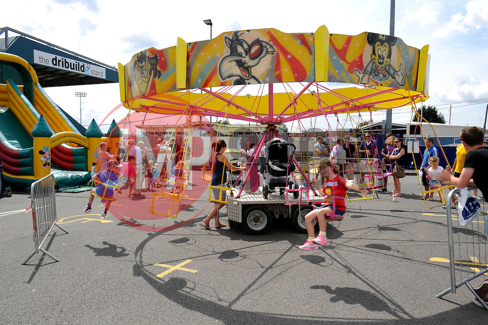 Swings outside the Memorial Stadium - Photo mandatory by-line: Dougie Allward/JMP - Mobile: 07966 386802 27/07/2014 - SPORT - FOOTBALL - Bristol - Bristol Rovers - - Memorial Stadium - Fun Day