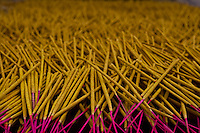 locally made incense drying on the side of the road near Yangshuo.