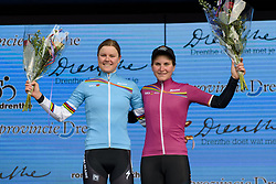 Amalie Dideriksen takes the lead in the UCI WWT youth classification, whilst Elisa Longo Borghini retains the overall classification jersey at Ronde van Drenthe 2017. A 152 km road race on March 11th 2017, starting and finishing in Hoogeveen, Netherlands. (Photo by Sean Robinson/Velofocus)