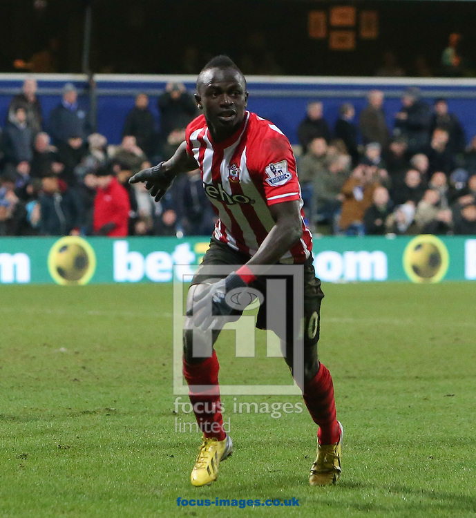 Sadio Mane of Southampton turns away after opening the scoring against Queen's Park Rangers during the Barclays Premier League match at the Loftus Road Stadium, London<br /> Picture by John Rainford/Focus Images Ltd +44 7506 538356<br /> 07/02/2015