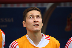 June 14, 2018 - Moscow, Russia - Russian Federation. Moscow. The Luzhniki Stadium. Match Opening of the World Cup 2018. Russia - Saudi Arabia. Solemn opening ceremony of the FIFA World Cup 2018. FIFA World Cup 2018. Player of the Russian national football team (in red)..Daler Kuzyaev. (Credit Image: © Russian Look via ZUMA Wire)