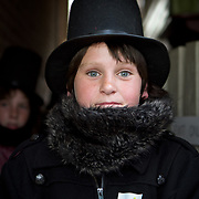 Fritz Meixner waits to participate in the Abraham Lincoln look-alike contest at the Shriver House Museum in Gettysburg, PA, during the Sesquicentennial Anniversary of the Battle of Gettysburg on Wednesday, July 3, 2013.  John Boal Photography