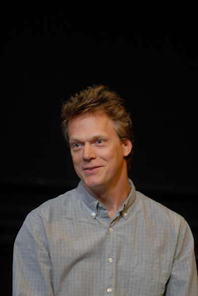 Still Waters in a Storm presents a panel discussion about reading and writing, at The Performing Garage, moderated by The Wooster Group's Kate Valk, with panelists including Russell Banks, Peter Carey, Peter Hedges, Richard Price...Pictured here Peter Hedges.