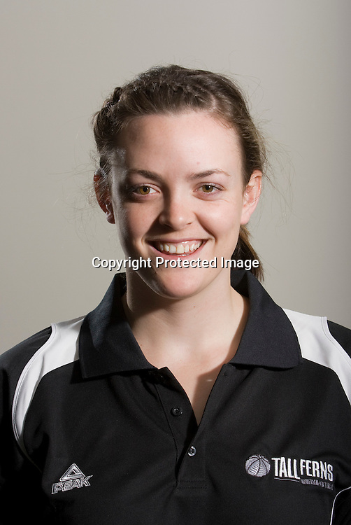 Pip Connell, Forward. Tall Ferns Basketball team headshots. Napier, New Zealand, Friday 28 August 2009. Photo: John Cowpland/PHOTOSPORT
