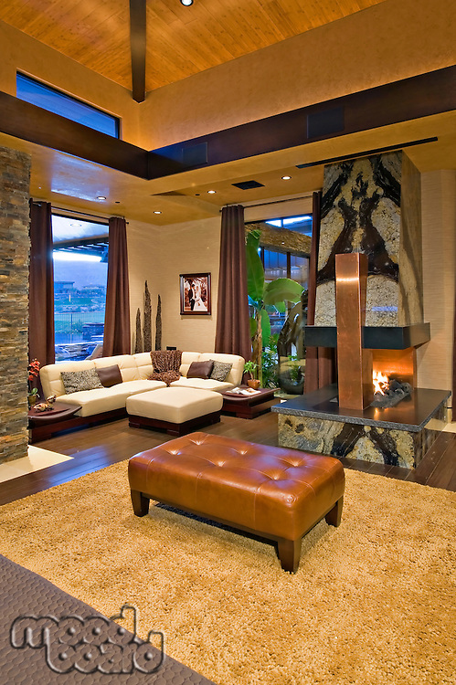 Living room interior of a luxury villa